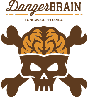 Danger Brain Design Illustration Logos